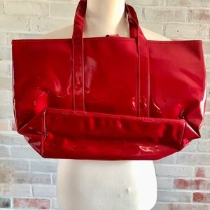 Victoria's Secret Bags - Victoria Secret Platinum Pleather Large Tote Bag